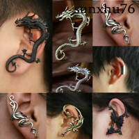 Men Crystal Ear Clip Stud Women's Punk Cuff Wrap Cartilage Earring Jewelry