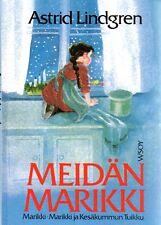 Buch Astrid Lindgren FINNISCH, Meidän Marikki, Madita, Madicken, NEU