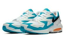 Nike Air Max 2 Light Running Shoes White Blue AO1741-100 US Mens 10 Womens 11.5