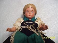 RARE OLD VINTAGE WONDERFUL 1930'S GERMAN GIRL DOLL & STAND, FREE SHIPPING