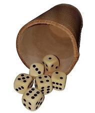 Qualitäts Würfelbecher Lederwürfelbecher  dickes Leder ! Ca 4-5 mm Stärke !