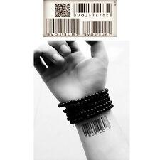 Unisex Funny Body Art Bar Code Image Temporary Prank DIY Tatoo Sticker 5Pc/Pack
