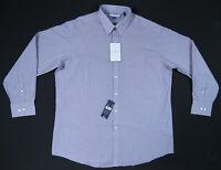 NWT Tommy Hilfiger Ithaca Blue Striped Mens Long Sleeve Button Shirt XL 34-35