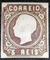 Portugal Sc #12 Type I , 5 Reis MINT