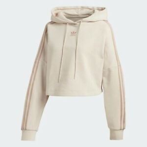 Adidas Women's Cropped Hoodie, Linen