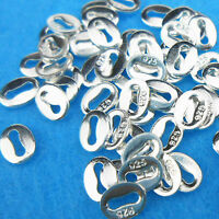 Wholesale 20PCS Jewelry Findings 925 Sterling Silver Oval Hallmark Tag Stamp 925