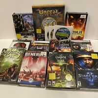 Lot 12 PC Games Most In Box Farcry, Unreal, C&C, Starcraft, Dawn Of War +More