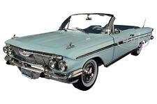 1961 CHEVROLET IMPALA OPEN CONVERTIBLE GREEN 1/18 DIECAST MODEL CAR SUNSTAR 3409