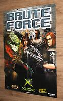 Brute Force very rare Promo Poster 84x59.5cm Xbox