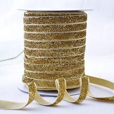 Glitter Velvet Ribbon 10 20 25mm Wide Wedding Christmas Gift Wrap Assorted Color