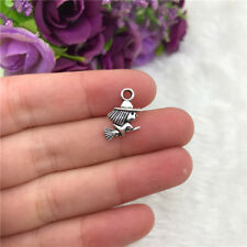 4PC Witch Hat Lot/_Charm Pendant/_Set Collection Craft DIY Halloween Silver