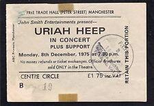 1975 Uriah Heep Concert Ticket Stub Manchester UK Return to Fantasy Easy Livin