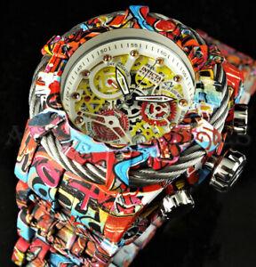 Invicta 52mm Reserve GRAND Bolt Zeus ORANGE Gem Hydroplated GRAFFITI Swiss Watch
