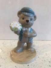 B&G Bing & Grondahl 2000 Victor Porcelain Teddy Bear Figurine Flowers Love