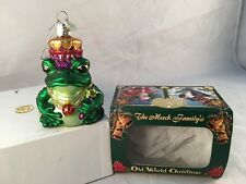 Merck Old World Christmas Ornament - 2001 Royal Frog w/ Box - Excellent