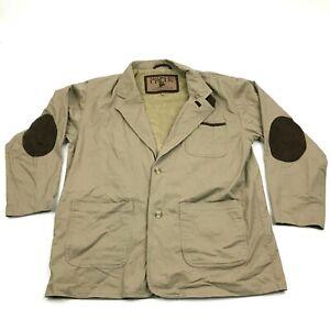 Cabela's Madison Creek Outfitters Travel Coat Blazer Jacket Camel Tan Khaki