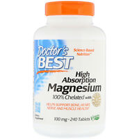 Doctor s Best  High Absorption Magnesium 100  Chelated with Albion Minerals  100