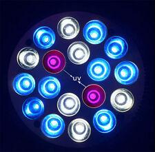 E27 18*3W 10Blue 6 White 2 UV LED Coral Reefs Grow Fish Tank Aquarium PAR Light