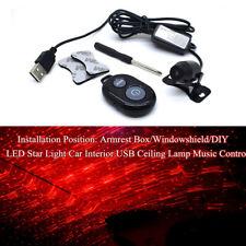 LED Star Light Car Truck USB Ceiling Lamp Music Control Tool Universal w/Remote