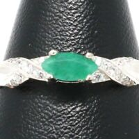 .5 Ct Baguette Emerald Ring Women Wedding Engagement Jewelry Gift 14K White Gold