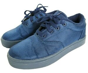Heelys Youth Size 6 Blue Lace Up Roller Shoes Sneakers Launch 770829