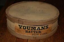Rare Antique Youmans Hatter New York Hat Box Advertising Vintage