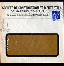 NANTERRE (92) Société de CONSTRUCTION & d'ENTRETIEN de MATERIEL ROULANT en 1939
