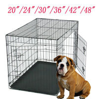 "20""/24""/30""/36""/42""/48""Pet Cat Dog Folding Steel Crate Animal Playpen Metal Cage"