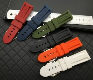 22 24 26 Silicone Rubber Watch Band Strap For Panerai PAM Strap HIGH QUALITY!