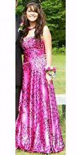 Animal Print Pink & Black Strapless Sweetheart Prom dress Size 6