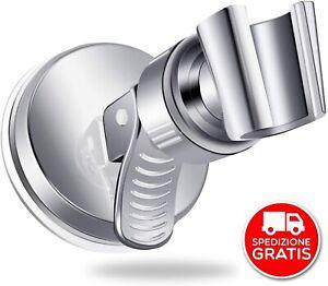 Supporto per soffione doccia 20-25MM cromato staffa di supporto per morsetto scorrevole per soffione doccia di ricambio regolabile in ABS