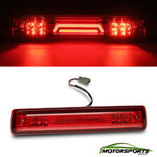 Fit 2015-2018 Chevy Colorado/GMC Canyon Red 3D LED Bar 3RD Third Brake Light