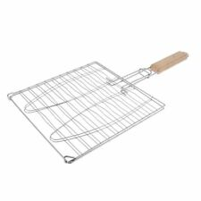 BBQ Grill Basket Turner for 2 Fish with Wooden Handle - 910007