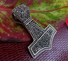 Thor's Hammer Pendant 925 Silver Viking Necklace Norse Unisex Gift