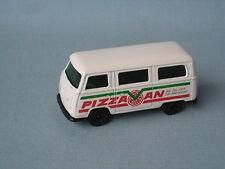 LESNEY MATCHBOX superveloce Volkswagon Bay Finestrino Furgone USA PIZZA mozzi NERO