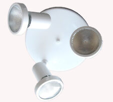 White Adjustable 3 Light Ceiling Fixture