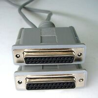 PC Serial Data Transfer (Null Modem) Cable, 25-way DB25 Female to Female F/F, 2M