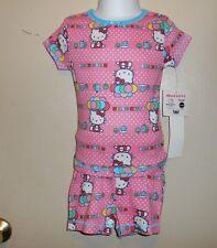 3aa9a67a5 Hello Kitty by Sanrio Niñas Mangas Cortas y Pantalones Pijama Conjunto Rosa  cuatro (4) Nuevo con etiquetas