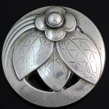 Vintage Georg Jensen Sterling Silver/925 Floral Flower Pin/Brooch #127 LQ66-G