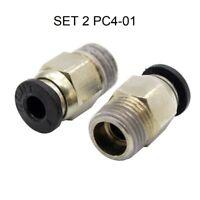 PC4-01 PTFE Conector Neumático Acoplador Impresora 3D V6 V5 J-head Bowden