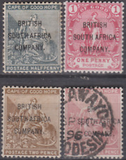 Rhodesia 1896 Mint Mounted & Used Set to 3d Cat £148