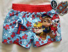 New Paw Patrol UPF 50 Swim Trunks Shorts Bathing Suit 12M Blue Red