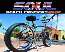 Soul beach cruiser UK Fat Tyre brut poli Stomper American Big Vélo
