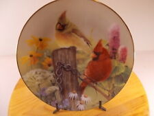 "Nnb The Danbury Mint Collection ""Summer Garden"" Collectors Plate By Bob Travers"