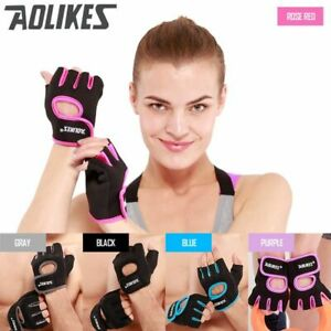 Men & Women Gym Half Finger Gloves Sports Fitness Exercise Training Anti-slip