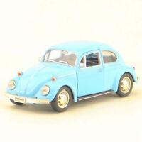 1:36 Beetle 1967 Die Cast Modellauto Spielzeug Model Sammlung Pull Back Blau
