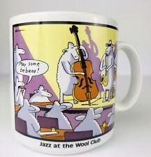 Vintage 1987 THE FAR SIDE Gary Larson Coffee Mug Cup JAZZ at the Wool Club SHEEP