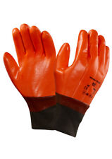 Ansell 23-491 Fireball Men Work Gloves Hi Vis Winter Thermal Liner PVC Dipped XL