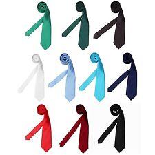 Krawatte 7 cm breit Schlips Tie Klassisch Einfarbig Büro Hemd Anzug Schwarz Navy