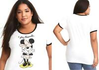 New 1X 14/16 Disney Torrid Minnie Mouse Floral Bow Classic Ringer Tee T shirt